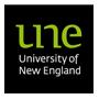The University of New England (Australia) logo